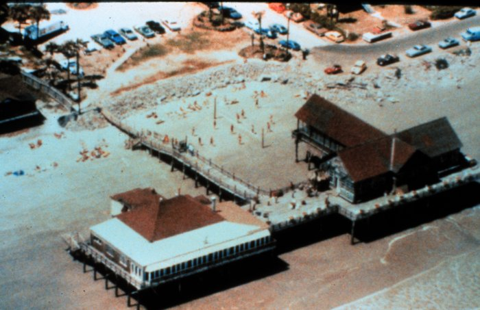 . Atlantic House Restaurant at Folly Beach before Hurricane Hugo. National Hurricane Center. NOAA\'s National Weather Service (NWS) Collection