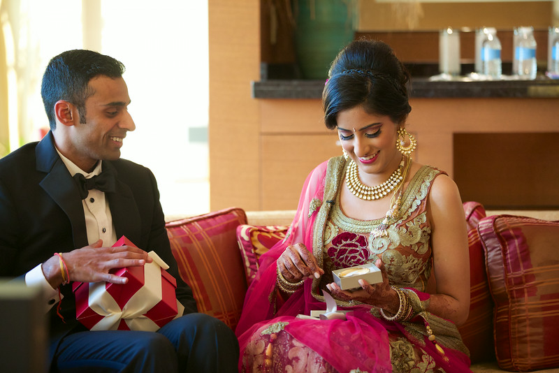 Le Cape Weddings - Indian Wedding - Day 4 - Megan and Karthik Exchanging Gifts 17.jpg