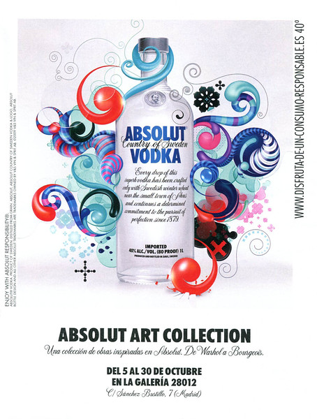 2011 ABSOLUT Art Collection vodka Spain (YoDona)