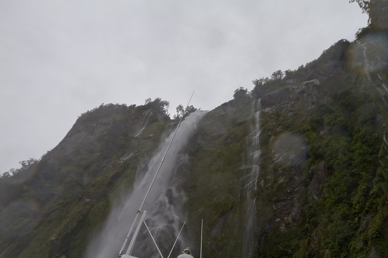 New Zealand - Milford Sound - This is me getting wet from a waterfall