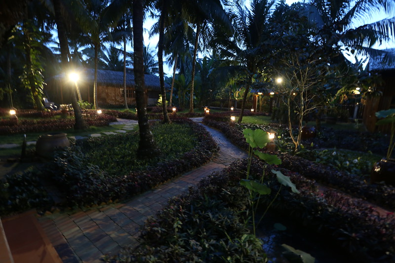 Nighttime settles in by the Mekong Delta