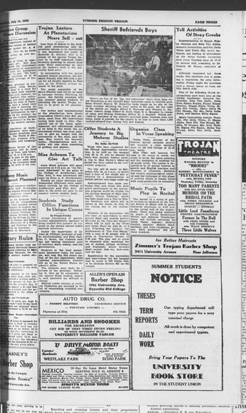 Summer Session Trojan, Vol. 15, No. 7, July 14, 1936