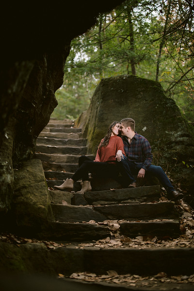 Hocking Hills Engagement - Rock House