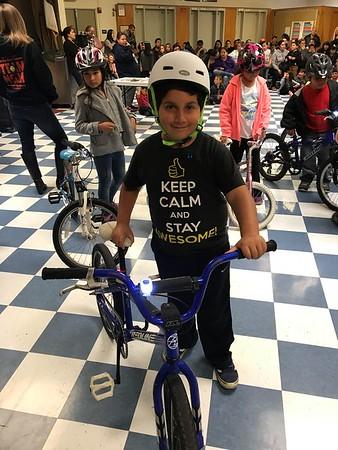 Bike GiveAway at La Honda (Nov 2017)