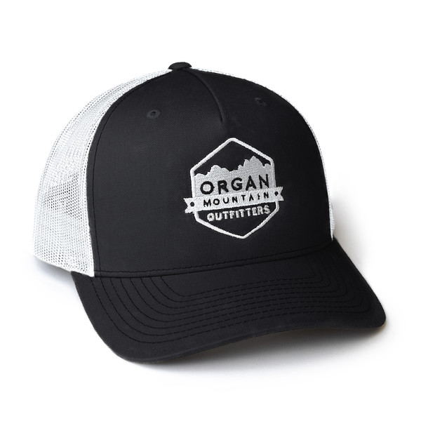 Organ Mountain Outfitters - Outdoor Apparel - Hat - Snapback Trucker Cap - Black White.jpg