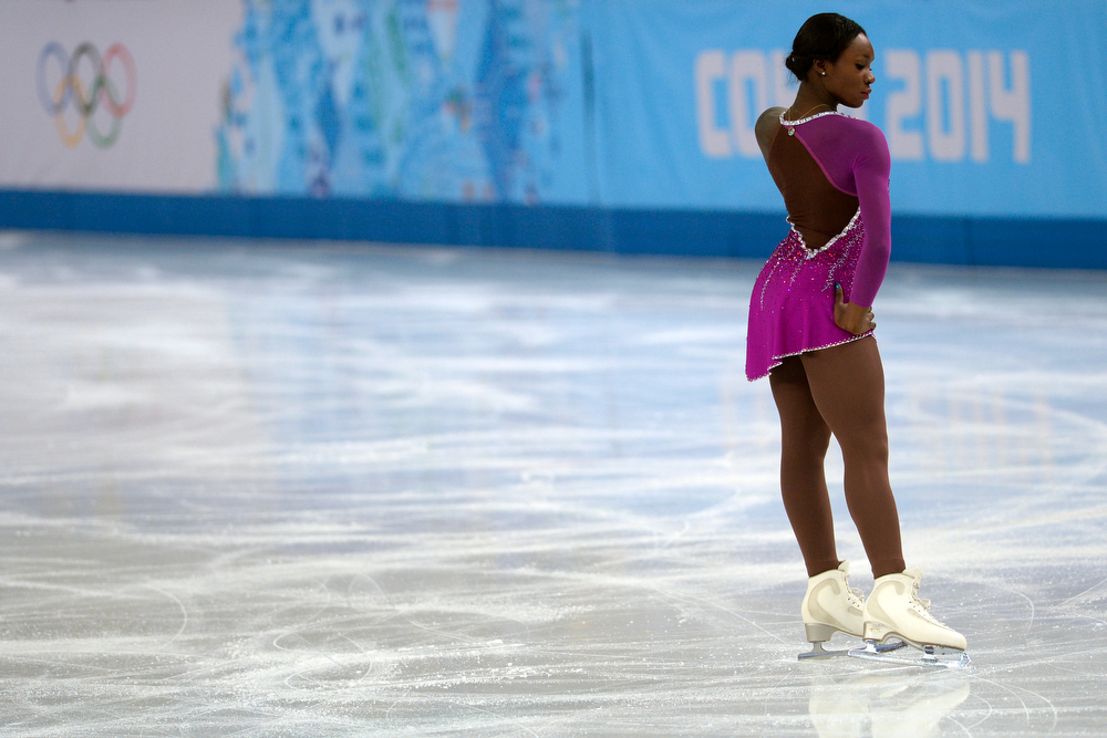 . France\'s Mae Berenice Meite performs en route to a 55.45 in ladies short program during team figure skating. Sochi 2014 Winter Olympics on Saturday, February 8, 2014. (Photo by AAron Ontiveroz/The Denver Post)
