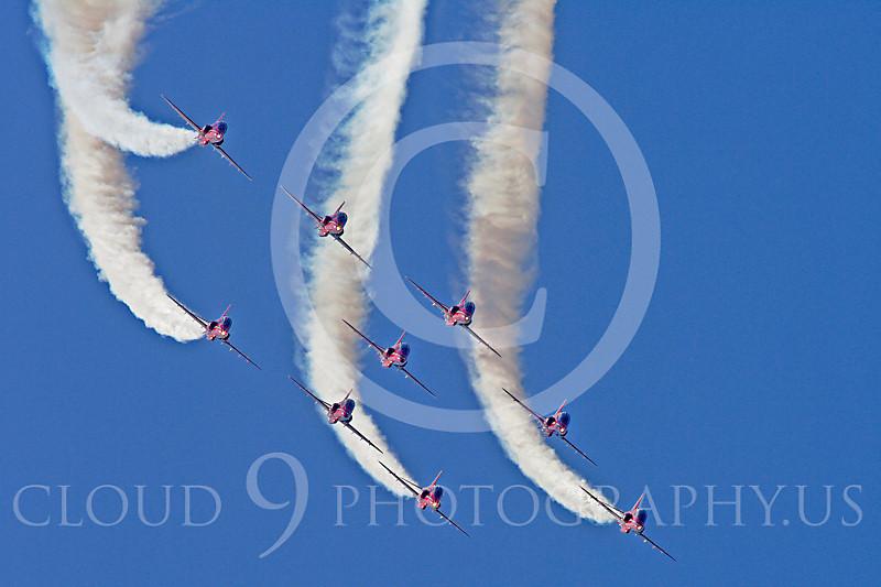 Red Arrows 00001 Red Arrows BAE Hawk British RAF by Stephen W D Wolf.JPG