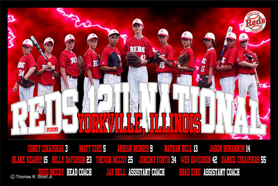 2009 Yorkville Reds Team Poster