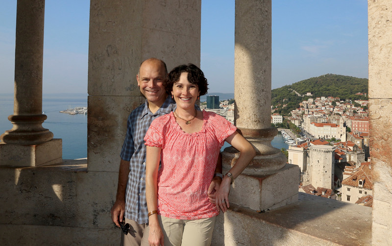 Atop the bell tower at the Cathedral of St Domnius - Diocletian's Palace