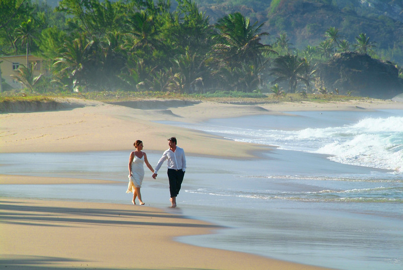 Couple on the East coast of Barbados photographed by Barbados Photography