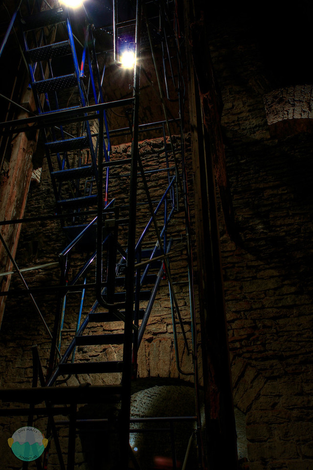 Shacky Stairs<br /> The stairs that lead down into Gerke Brewery's lagering tunnels.
