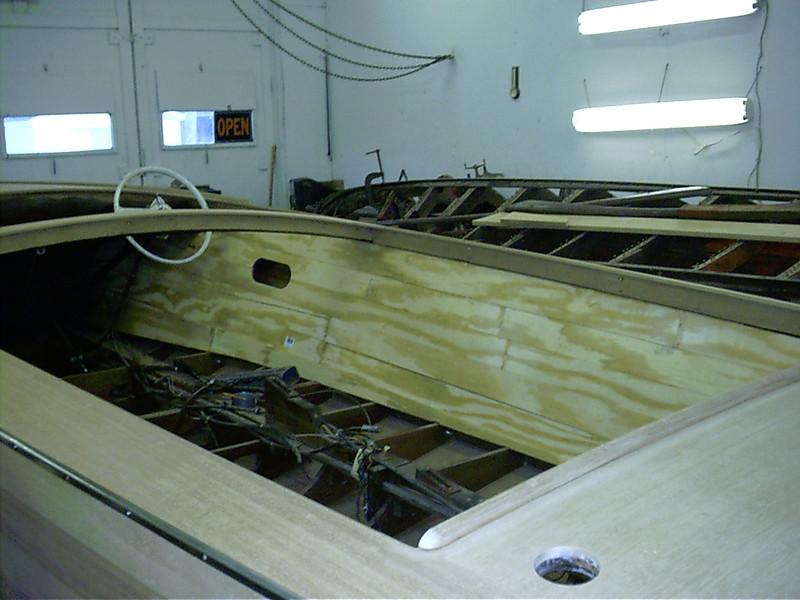 Starboard cockpit liner patterns made.