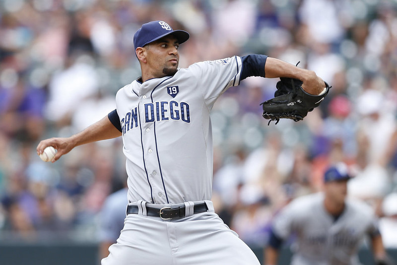 . Tyson Ross #38 of the San Diego Padres pitches in the second inning of the game against the Colorado Rockies at Coors Field on September 7, 2014 in Denver, Colorado. (Photo by Joe Robbins/Getty Images)