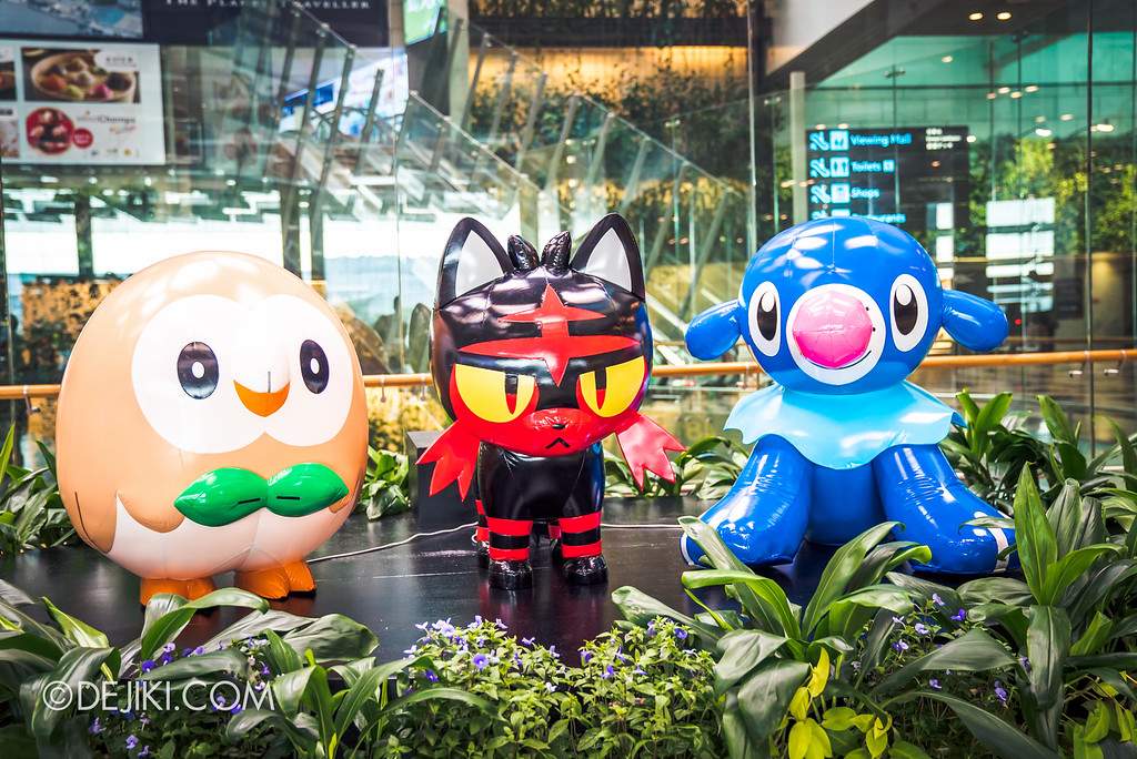 Pokémon at Changi Airport - Sun & Moon Starter Pokemon
