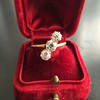 1.38ctw Antique Old European Cut Diamond 3-Stone Ring 18