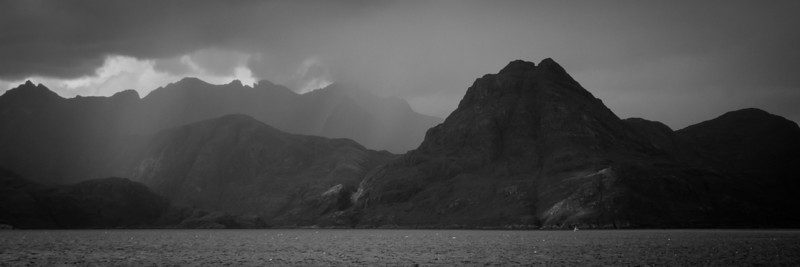 Changeable weather over the Black Cuillins