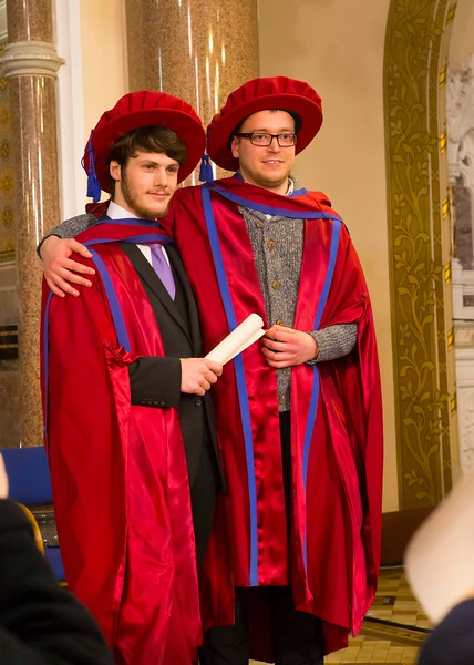 Waterford Institute Of Technology Conferring. Pictured at WIT Waterford Institute Of Technology Conferring are Julien Mineraud, France and Stepan Ivanov, Russia who were conferred a Doctor of Philosophy. Picture: Patrick Browne