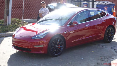 Tesla Model 3 - Multi-Coat Red 2
