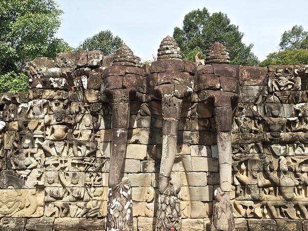 Angkor Thom--Palace, Elephant Terrace, Leper King