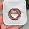2.90ctw French Ruby and Diamond Brooch, by La Cloche Fres of Paris 9