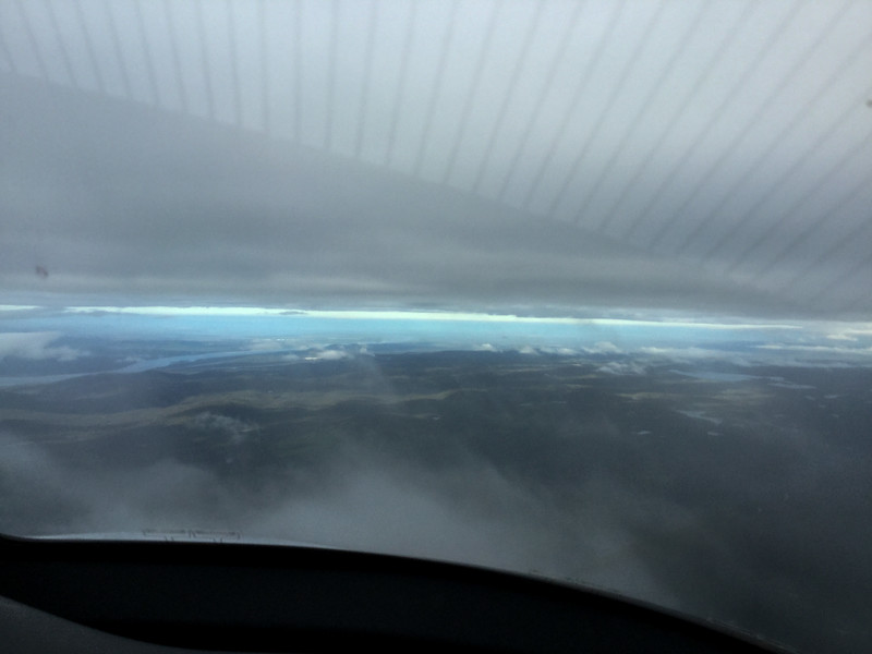 Descending into Goose Bay, CAN