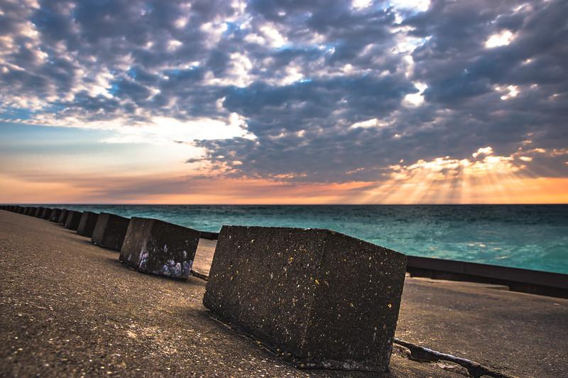 Sunset at Point Betsie.