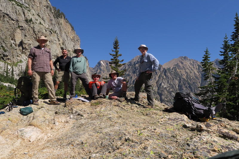 Group Photo #6 - After the eclipse - South Cascade Canyon - Grand Teton National Park, Wyoming