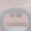 Snowflake-Motif Diamond Earrings 0