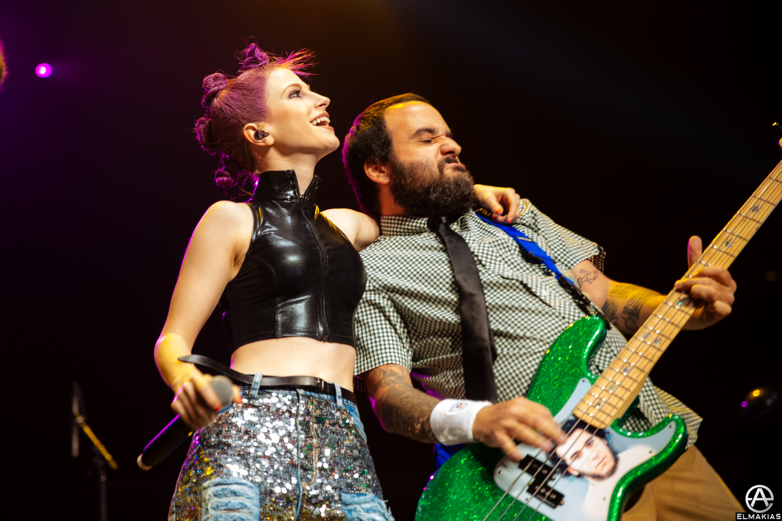 Hayley Williams of Paramore and Ian Grushka of New Found Glory live at the Alternative Press Music Awards 2015 by Adam Elmakias