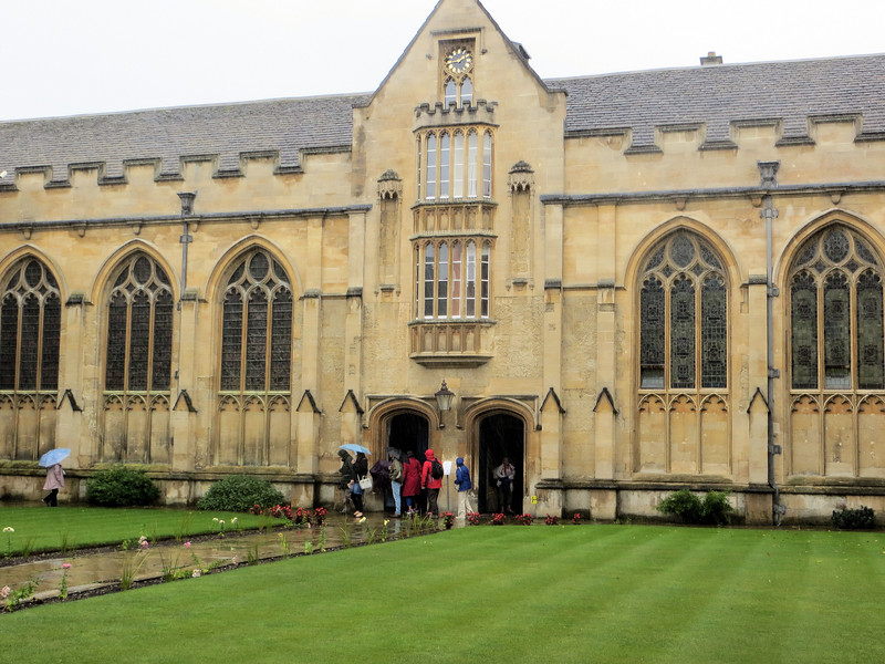 "University College, or ""Univ"" as people usually call it in Oxford, is the oldest college in Oxford, having been founded in 1249.  That doesn't mean the buildings date from then, however.  They are 17th century."