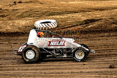 4-12-2014 Nonwing Sprint Cars I-35 Speedway