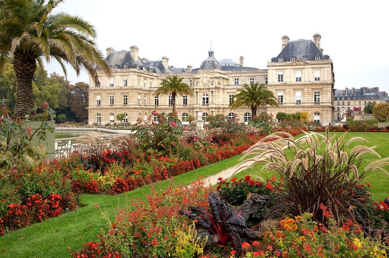 Paris Luxembourg Garden Autumn