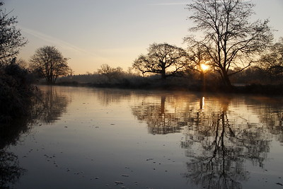 Wintermorning at the River Stour