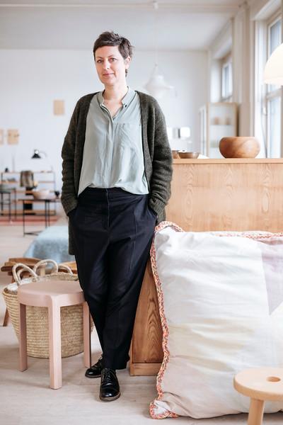 Portrait of Alexa Früh, owner at Grimsel Basel.