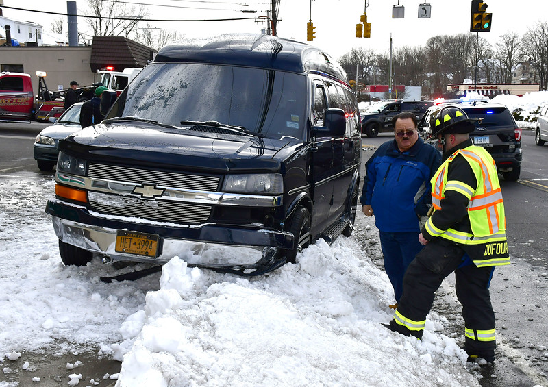 3/7/2019 Mike Orazzi | Staff The scene of a two-vehicle crash at the intersection of Rustic Terrace and Route 6 in Bristol Thursday afternoon. Both vehicles were towed from the scene and no injuries were reported.