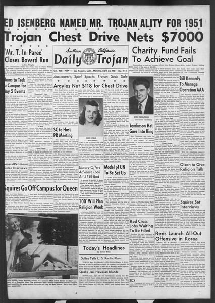 Daily Trojan, Vol. 42, No. 114, April 23, 1951