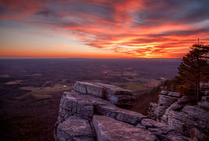 Pilot Mountain Sunset