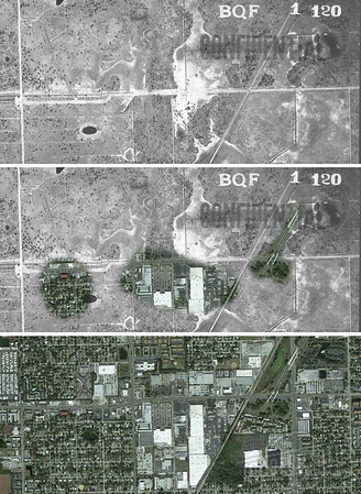 Tampa 1938 and 2016 Aerials