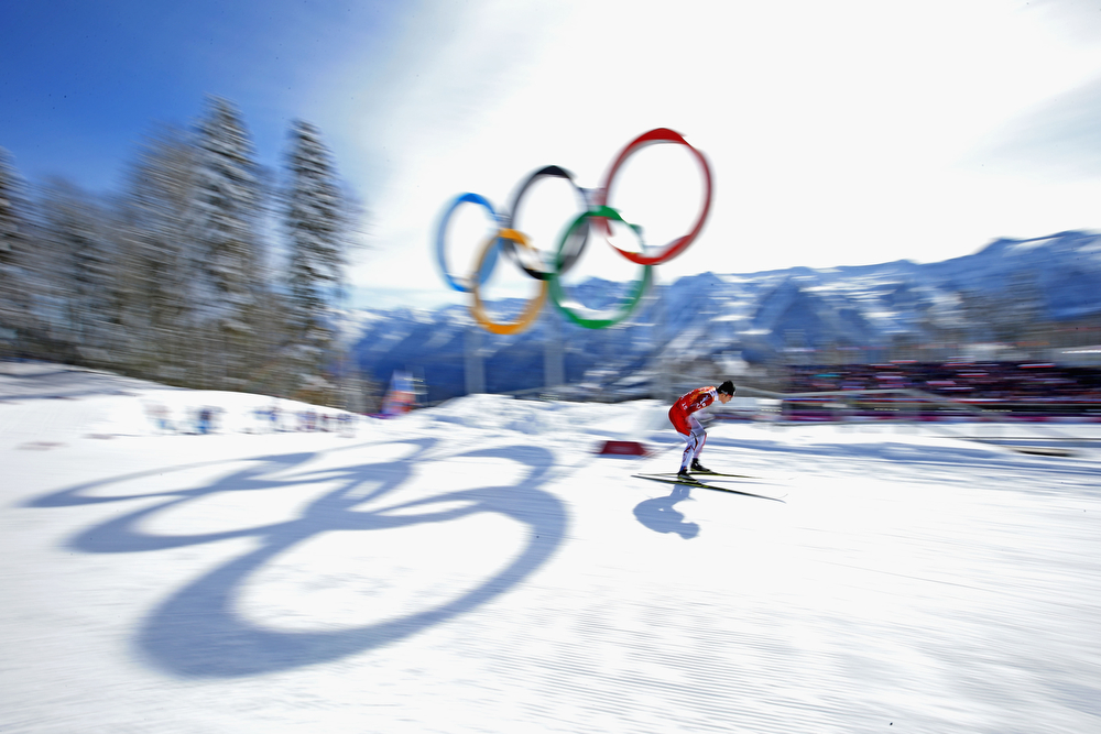 . Hiroyuki Miyazawa of Japan competes in the Men\'s Team Sprint Classic Semifinals during day 12 of the 2014 Sochi Winter Olympics at Laura Cross-country Ski & Biathlon Center on February 19, 2014 in Sochi, Russia.  (Photo by Richard Heathcote/Getty Images)