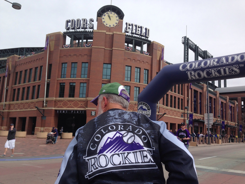 . Fans arrive at coors  field for the home opener of the Colorado Rockies. (Photo by Craig F. Walker/The Denver Post)