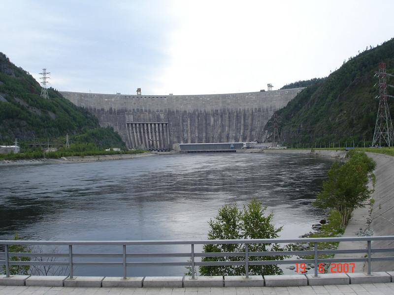 Саяно-Шушенская ГЭС.  Ещё до аварии...