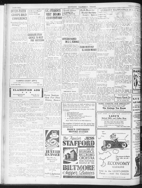 Daily Trojan, Vol. 23, No. 21, October 09, 1931