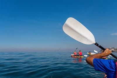 Kayak and Yacht