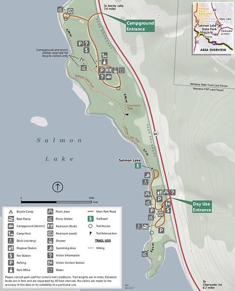 Salmon Lake State Park (Trail Map)