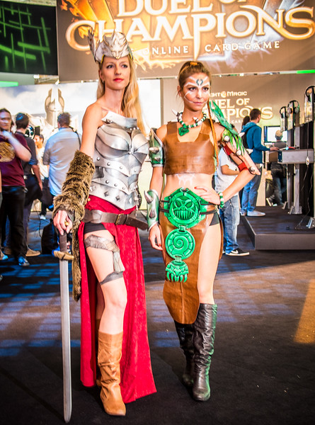 Might and Magic girls at Gamescom 2013