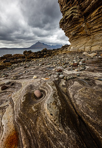 At the beach on Isle of Skye