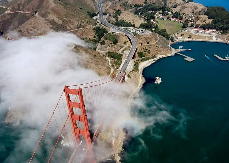 Golden Gate Bridge from air