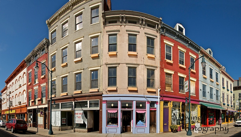 Buildings across the street on north side of Findlay Market