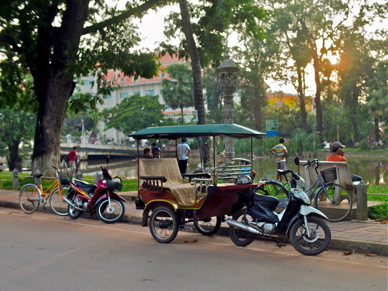 Tuk Tuk by Siem Reap River