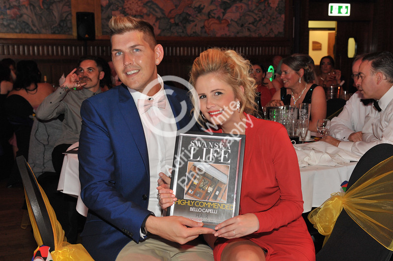 Swansea Life Awards 2017 Brangwyn Hall, Swansea Hair Highly Commended.. Bello Capello